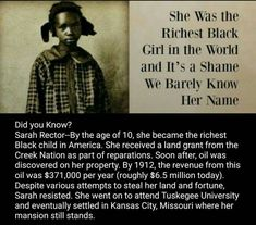 The richest black girl in the world.