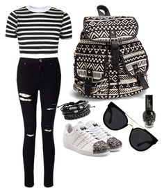 """""""Untitled #65"""" by giogio0353 on Polyvore featuring Topshop, Miss Selfridge, adidas Originals, NLY Accessories and Quay"""