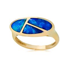 Terra Opalis Opal Inlay Ring 9ct Gold #terraopalis #opal #jewelry from the #expert #jurgenschutz #schütz #jewellerey