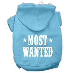 Basic Dog Hoodie (Screen Print) - Most Wanted