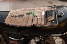 Union Garage Tool Roll. Modeled after original tool kit manufactured and sold by BMW. Waxed canvas.