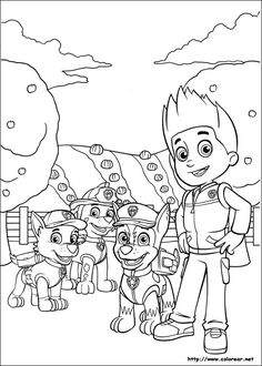 Paw Patrol Rubble Coloring Pages Printable And Book To Print For Free Find More Online Kids Adults Of