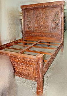 artisanat indien meuble indien ameublement meubles bois massif indiens lit