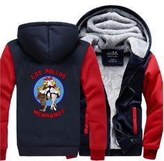 LOS POLLOS Hermanos Breaking Bad Men Sweatshirt 2017 Winter Warm High Quality Men's Hoodie Chicken Brothers Slim Fit Coat #Affiliate