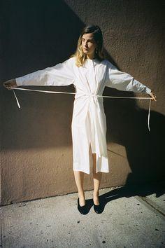 DOVE LONG SHIRT DRESS, BEIGE WASHED