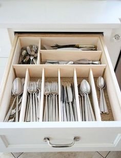 Once a month, remove plastic dividers and wash by hand or in the dishwasher, then wipe down with bleach and let dry. Tackle built-in drawer ...