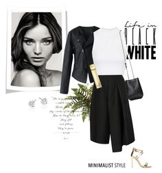 """Life In Black & White"" by rever-de-paris ❤ liked on Polyvore featuring Kerr®, Chicwish, TIBI, Topshop, Maiyet, Aquazzura, Roberto Coin, Michael Kors, contest and Elegance"
