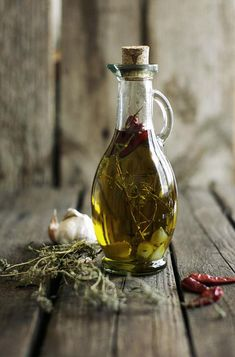 Herbed Oil Bottle :: by luluto on Flickr.