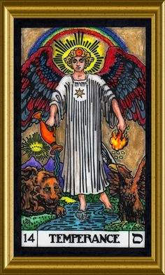 The Temperance Card, Case Deck Tarot Card Decks, Tarot Cards, Temperance Tarot, Rider Waite Tarot, Online Tarot, Major Arcana, Oracle Cards, Deck Of Cards, Two By Two