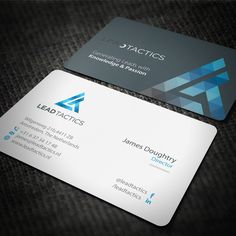 Simple but sophisticated business card by corporateart business creative business card for lead tactics by owenxkie colourmoves