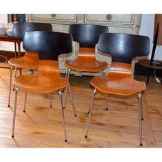Set of 4 Hammer Chairs 3103 by Arne Jacobsen for Fritz Hansen, 1970