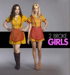 Kat Dennings and Beth Behrs 2 Broken Girls