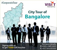 Corporate tour - http://www.visiit.com/package/city-tour-of-bangalore Visiit offers comprehensive business tour packages includes international ‪#‎Trade‬ ‪#‎Fairs‬, ‪#‎exhibitions‬, ‪#‎events‬, ‪#‎conferences‬ and more.. Get ₹5000 offer!! Also, win a Free trip to Thailand. Call: 7305 200 300 | sales@visiit.com