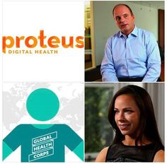 Andrew Thompson, co-founder and CEO, Proteus Digital Health and Barbara Bush, co-founder and CEO, Global Health Corps are two of the intriguing entrepreneurs honored by Goldman Sachs. Meet them and four others.  http://qz.com/291361/meet-six-intriguing-entrepreneurs-honored-by-goldman-sachs/