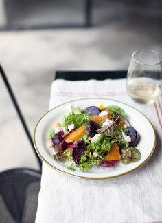 *Roasted Beet Salad* via whatkatieate.blogspot.com  Absolutely beautiful food photography