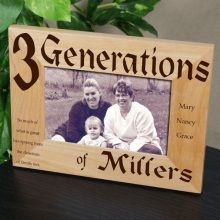 Family Generations Personalized Picture Frames