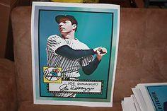 Joe DiMaggio eTopps Canvas Print 1952 Topps CTNW Yankees 16x20 National Promo | eBay
