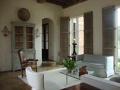 Décor de Provence: The Indoor Shutter... Brilliant!