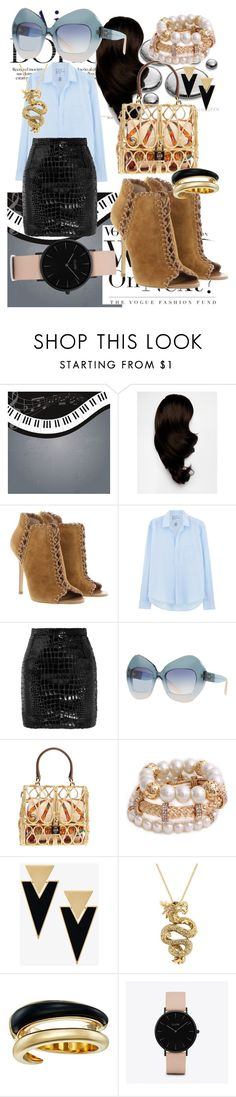 """""""City Walker Ankle Booties"""" by bvn01 ❤ liked on Polyvore featuring Hershesons, Michael Kors, Frank & Eileen, Yves Saint Laurent, Dolce&Gabbana, Effy Jewelry and CLUSE"""