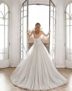 Wedding Dresses - Aire Barcelona 2019 Collection | Aire Barcelona Wedding Dresses Pinterest, Everyday Dresses, Belleza Natural, Dress Collection, Wedding Bride, Dress Up, Tulle, Feminine, Gowns