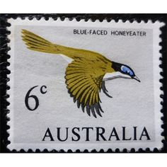Australia, 1966, Blue Faced Honeyeater, Bird Fine Mint