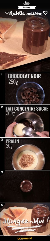 Rien de tel qu'un bon Nutella maison facile et rapide !☺
