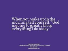 wake up and Bless God - Google Search