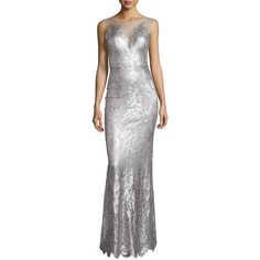 Catherine deane chloe sleeveless metallic lace gown 2 205 liked