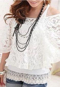 Zanzea Princess Off Shoulder Lace Batwing Shirts Tops Blouse