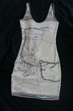 map of middle earth dress and hobbit slippers  Black Milk