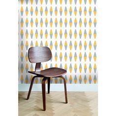 RETROGEO GREY/YELLOW - Wallpaper Idea