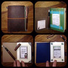 Midori Traveller's Notebook / passport size /fountain pen / gorjuss / washi tape / bullet journal / alternativ filofax / fauxdori / filofaxing