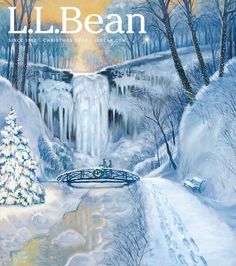 #LLBean Christmas 2014 catalog cover art by Tom Foty.  Learn more about the artist on our blog: http://blog.llbean.com/2014/10/meet-the-artists-behind-our-christmas-catalog-covers/