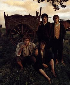 Frodo, Samwise, Merry, Pippin.
