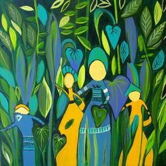 Tahitian Convicts in the Jungle  Art Greeting by Strongsoutherly