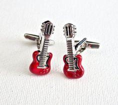 Gibson Guitar Cufflinks Cuff Links Music Musician Wedding Groom Groomsmen Groomsman Gift