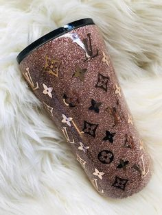 Products Louis Vuitton inspired double walled vacuum insulated tumbler What Wedding DJs Wish You Kne Diy Tumblers, Personalized Tumblers, Custom Tumblers, Glitter Tumblers, Monogram Initials, Monogram Fonts, Louis Vuitton, Custom Cups, Yeti Cup
