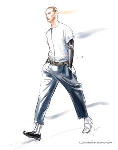 George gozum - fashion in progress: robert geller ss 2013 Illustration Example, Illustration Mode, Fashion Illustration Sketches, Fashion Sketchbook, Fashion Design Sketches, Sketch Design, Sketch Fashion, Fashion In, Fashion Poses