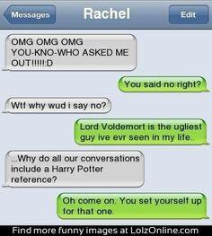 Harry potter humor. I love harry potter!