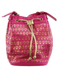Gold Riot Bucket Bag In Pink  Use Code: LEA25 at checkout to get 25% off your order from www.shopbellaeve.com   #shopbellaeve #accessorize #discountcode #fashionista