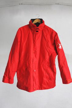 Vintage Helly Hansen Red-Blue Reversible Waterproof Sailing Jacket Size M by VapeoVintage on Etsy
