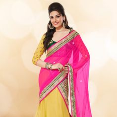 #Yellow #LehengaCholi with Dupatta