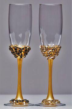 Personnalisé sa /& Hers verres à vin Set Idées De Cadeaux Boîte pour mariage engagements