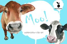 Cow Png, Cow Clipart, Cattle, Art Images, Your Design, Craft Projects, Clip Art, Hand Painted, Watercolor