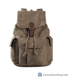 $75.99 Simple Style Canvas Backpack Casual Daypack for College