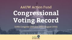 AAUW Action Fund Congressional Voting Record How Do Your Senators and Representatives Vote?