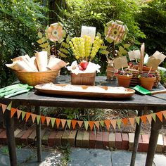 Celebrate a #birthday (or the beautiful weather) with our Gorgeous Garden Party theme! Fresh decor, activity, and recipe plans here: http://www.parents.com/fun/gorgeous-garden-party/?socsrc=pmmpin130522bpGarden