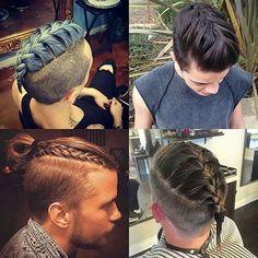 As tranças são a mais nova moda pro cabelo masculino.  O que acha? Vamos aderir?  #manbraid #trançamasculina