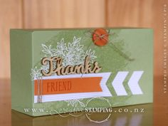"This gift box was created using the Watercolor Wash background stamp, Awesomely Artistic stamp set and the Gift Bag Punch Board. This is a decent size box; easy to fill with gifts to say ""thanks"".  www.creativestamping.co.nz 