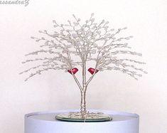 Japanese Maple Beaded Bonsai Wire Tree Sculpture by CassandraZ